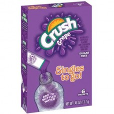 Crush Singles to Go! Grape Sugar Free  Drink Mix, 6 count, 0.48 oz