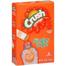 Crush Singles to Go! Orange Sugar Free  Drink Mix, 6 count, 0.55 oz