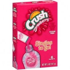 Crush Singles to Go! Strawberry Sugar Free  Drink Mix, 6 count, 0.5 oz
