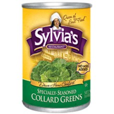 Sylvia's Restaurant Specially Seasoned Collard Greens, 14.5 oz