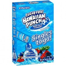 Hawaiian Punch Singles to Go! Berry Blue Typhoon Sugar Free  Drink Mix, 8 count, 0.95 oz